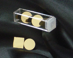 Gold surfaces on glass for Atomic Force Microscopy